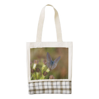 Marine Blue Butterfly Zazzle HEART Tote Bag