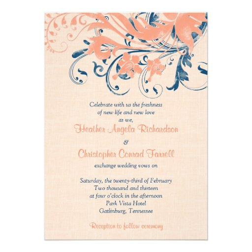 Peach Wedding Invitations was very inspiring ideas you may choose for invitation ideas