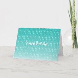 Marine blue faded bubble pattern card