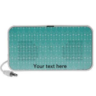 Marine blue faded bubble pattern iPhone speaker