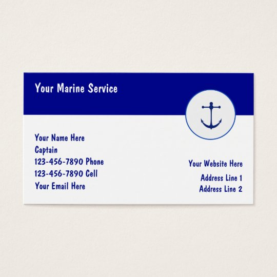 Marine Boating Business Cards
