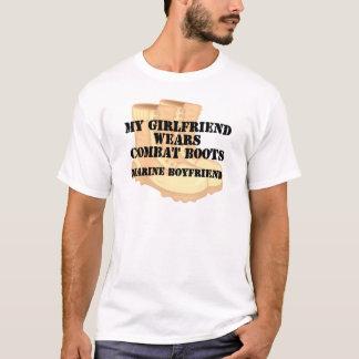 Marine Boyfriend Desert Combat Boots T-Shirt