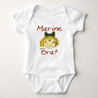 Marine Brat Girl Baby Bodysuit