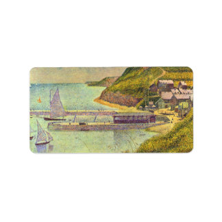 Marine by Georges Seurat Label