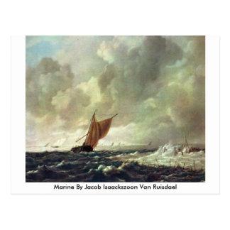 Marine By Jacob Isaackszoon Van Ruisdael Postcard