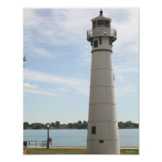 Marine City Lighthouse Poster