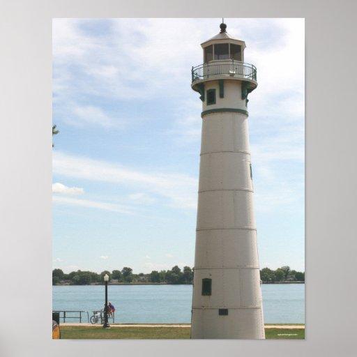 Marine City Lighthouse Poster