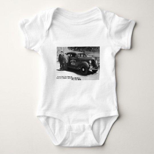 Marine City's First Police Car Baby Bodysuit