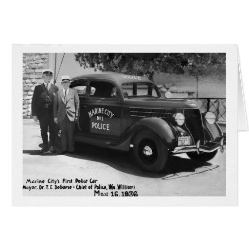 Marine City's First Police Car Card