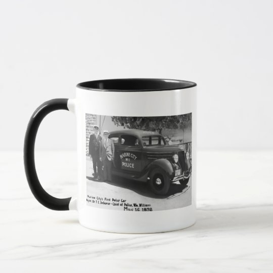 Marine City's First Police Car Mug