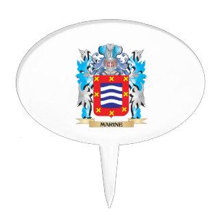 Marine Coat of Arms - Family Crest Cake Picks