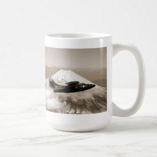 Marine Corps Aircraft Mt. Fuji Japan and sunset Coffee Mug