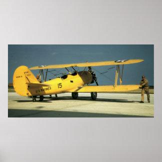 Marine Corps Biplane Poster