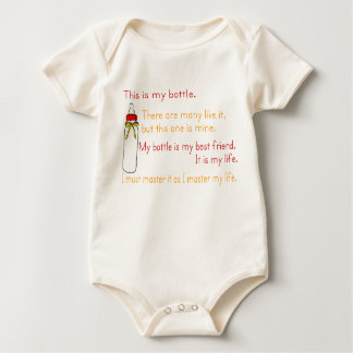 Marine Corps Bottle Creed Baby Bodysuit
