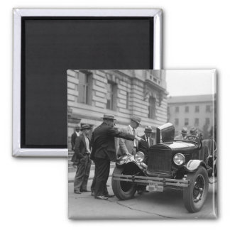 Marine Corps Car: 1926 2 Inch Square Magnet