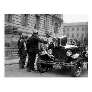 Marine Corps Car: 1926 Postcard