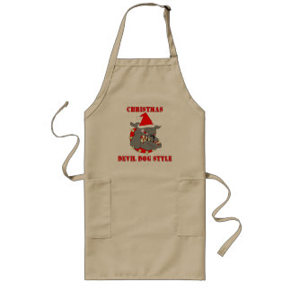 Marine Corps Christmas Devil Dog Style Aprons
