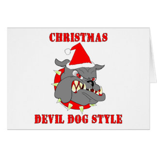 Marine Corps Christmas Devil Dog Style Greeting Card
