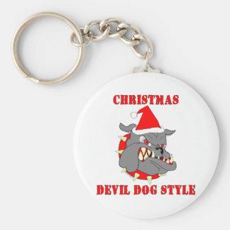 Marine Corps Christmas Devil Dog Style Key Chain