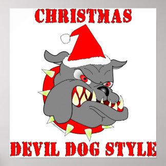 Marine Corps Christmas Devil Dog Style Print