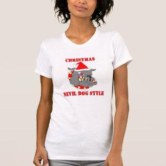 Marine Corps Christmas Devil Dog Style T-shirt