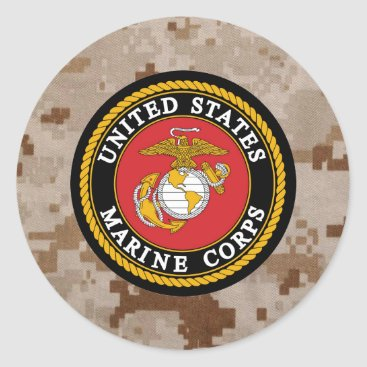 Marine Corps Digital Camo  Sticker