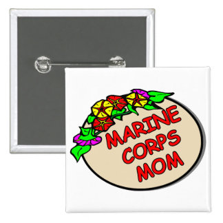 Marine Corps Mom Plaque Pinback Button