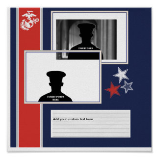 Marine Corps Photo Collage Poster