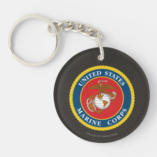 Marine Corps Seal 1 Double-Sided Round Acrylic Keychain