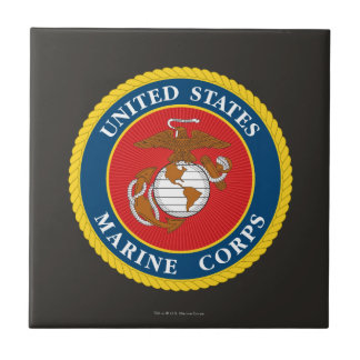 Marine Corps Seal 1 Small Square Tile