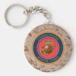 Marine Corps Seal 2 Basic Round Button Keychain