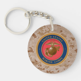 Marine Corps Seal 2 Double-Sided Round Acrylic Keychain