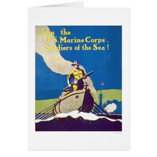 Marine Corps - Soldiers of the Sea! Card   Zazzle