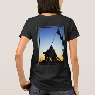 Marine Corps War Memorial Women's Black T-Shirt