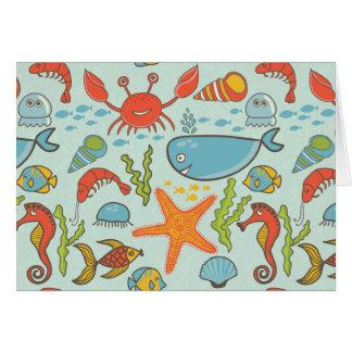 Marine Creature Pattern Card