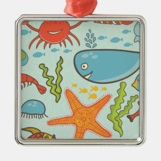 Marine Creature Pattern Metal Ornament