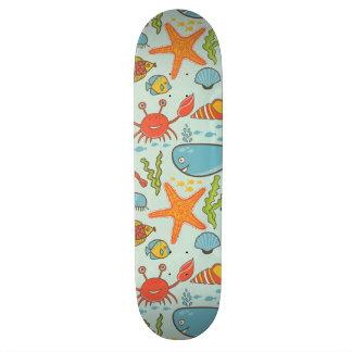 Marine Creature Pattern Skateboard