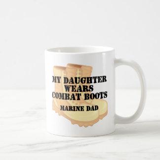 Marine Dad Dauaghter wears DCB Classic White Coffee Mug
