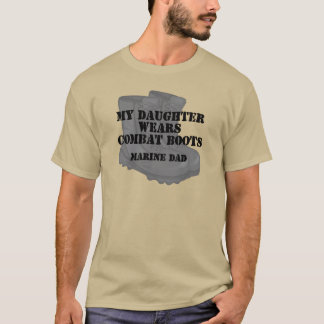 Marine Dad Daughter wears CB T-Shirt