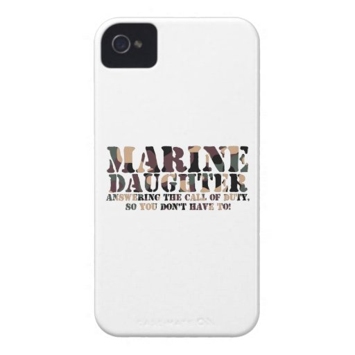 Marine Daughter Answering Call Case-Mate iPhone 4 Cases