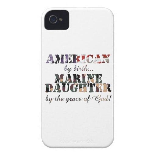 Marine Daughter Grace of God iPhone 4 Case