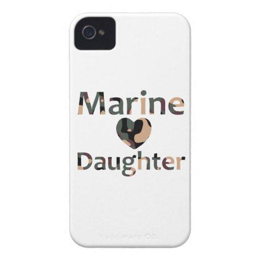 Marine Daughter Heart Camo iPhone 4 Case