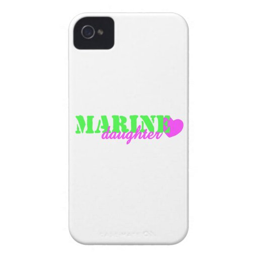 Marine Daughter Lime Green iPhone 4 Case-Mate Cases