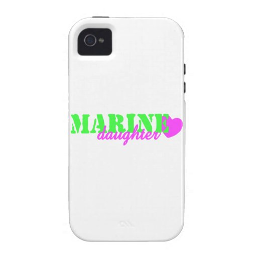 Marine Daughter Lime Green Case For The iPhone 4