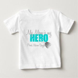 Marine Daughter - Mom Hero Baby T-Shirt
