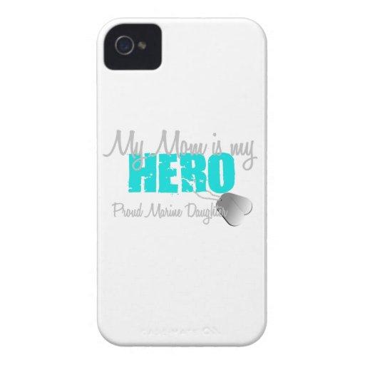 Marine Daughter - Mom Hero iPhone 4 Cases