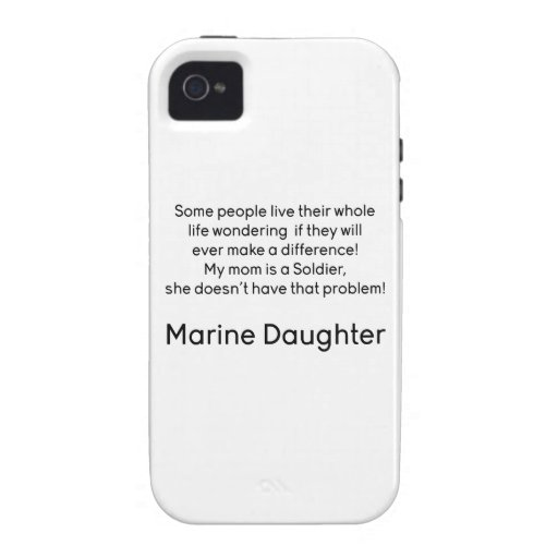 Marine Daughter No Prob Mom Case-Mate iPhone 4 Cover