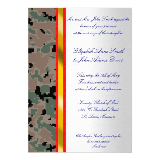 Personalized Military Invitations