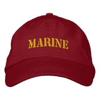 MARINE EMBROIDERED BASEBALL HAT