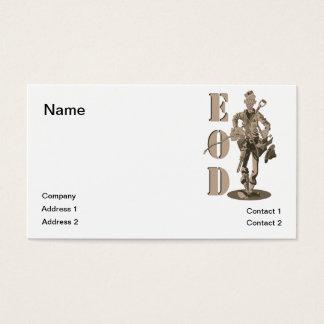 Marine EOD tech Business Card